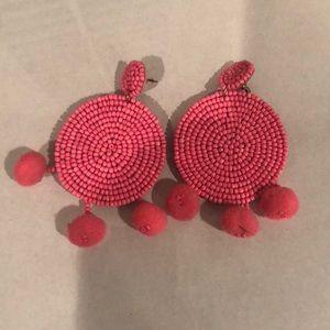 Fun pink earrings!